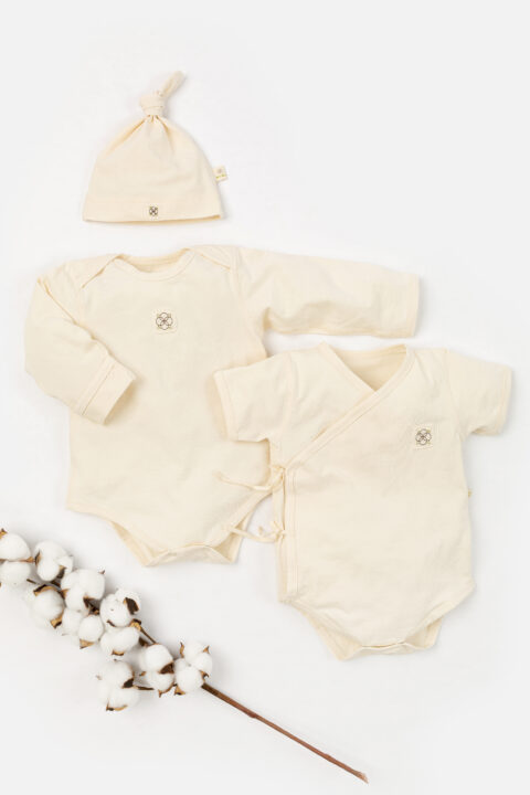 Organic cotton bodychip gift set for new baby